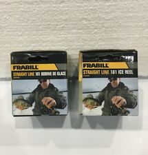 **TWO NEW Frabill Straight Line 101 Reel1:1 Ice Fishing Reel 1+1 BB 6699