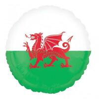 CLEARANCE Wales/Welsh Flag 18 Inch Foil Helium Balloon