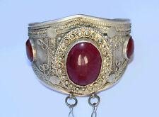 orient afghan nomaden tribal Armreif handschmuck Bracelet hand jewelry Rubin