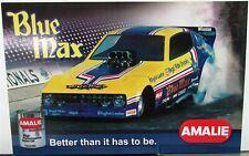 Vintage Drag Racing NAPA Blue Max Arrow Nitro Funny Car Photo Card Amalie Oil