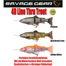 Savage Gear 4D Line Thru Pulse Tail Gummifische 20cm,102 Gramm SLOW SINK