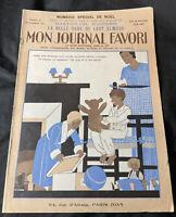ART DECO 1931 FASHION MAGAZINE FRENCH MON JOURNAL FAVORI CLASSIC EPHEMERA 29 NOV