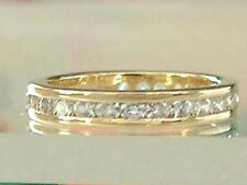 Massiver Memoryring - Ring Gold 585 mit Zirkonia Goldring - Bandring - Damenring