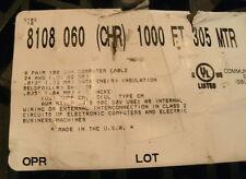 BELDEN 8108 060 CHR, 928', 24AWG, 8 PR, SHEILDED