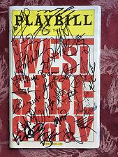 West Side Story remake  playbill cast signed Broadway Matt Cavenaugh autographed