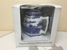 Ringtons Miniature Maling Jug Willow Blue & White Boxed