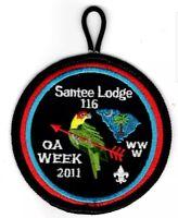 Boy Scout OA 116 Santee Lodge Patch 2011 OA Week