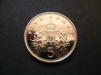 1986 BRILLIANT UNCIRCULATED FIVE PENCE PIECE, 1986 5P COIN ONLY ISSUED FOR SETS