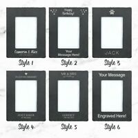 Personalised Slate Picture Frame Unique Etched Photo Frame 4x6 / 5x7 Portrait