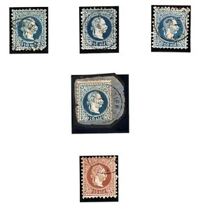 CYPRUS AUSTRIA PO ABROAD Stamps{5} Larnaca Postmarks Used Album Page YP70
