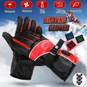 Men & Women's 3 Gear Winter Heated Gloves Waterproof Mittens Thermal Gloves