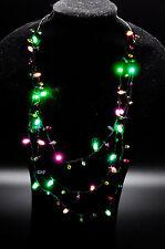 Mini Flashing Light-up Blinking Christmas Lights Costume Necklace LED Bulbs