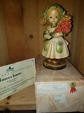 "Anri Sarah Kay Figurine ""Ten Roses For You"" 6"" Signed Ulrich Bernardi w/ Box Coa"