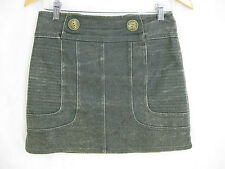 Manning Cartell Size 8 Faded Brown Denim Skirt