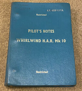 WESTLAND HELICOPTER WHIRLWIND HAR 10: PILOTS NOTES/ 22 SQN RAF CHIVENOR/DOWNLOAD