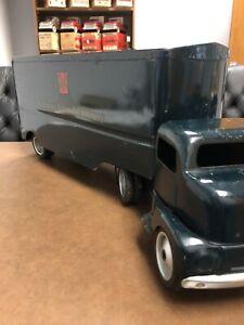 Vintage 1953 Tonka Marshall Field Semi Truck Pressed Steel - In Great Shape!