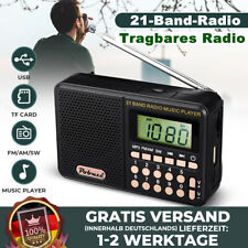 Tragbare Digital SW / AM / FM Radio Digitalradio Akku MP3 Musik Player USB DE