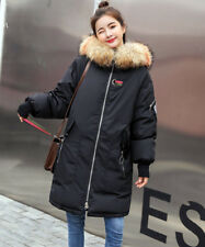 2018 Damen Stickerei Neu Winter Jacke Warm Mantel Fellkragen Daunen Jacke Parka