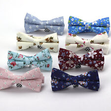 Lot 8 Packs Men's Bow Tie Adjustable Bowtie 100% Cotton Vintage Floral Butterfly