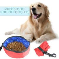 Dog Portable Pet Water Food Feeder Collapsible Bowl Travel Cat Drink Dish W5Q9
