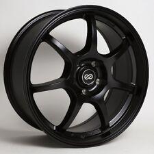 18x8 Enkei GT7 5x112 +45 Black Rims Fits audi A3 TT VW Jetta