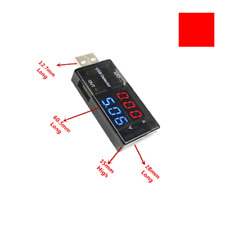 USB Current Voltage Detection Meter # Dual LED 3V-9V Red Blue Display Voltmeter