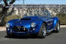1 AC Cobra Shelby Ford 1966 GT Race Sport Car 40 Vintage Carousel Blue Model 18