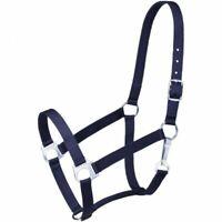 Tough 1 Navy Blue Nylon Horse Sized Economy Halter horse tack equine 50-1701