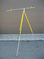 Artist Yellow Plein Air Folding Metal Easel, ,with adjustable pole NEW (Italy)