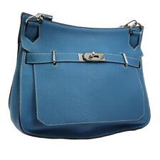 Auth HERMES JYPSIERE 34 Cross Body Shoulder Bag Blue Traurillon Clemence JT07354