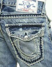 NWT True Religion Jeans Straight w/Flap Super QT Natural BZSL Buzzards Route 27