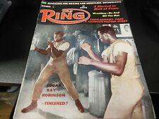 THE RING 1961 SUGAR RAY ROBINSON COVER BOXING MAGAZINE RARE COOL GOOD CONDITION