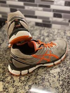 ASICS Mens GT 2000 Gel Running Shoes White Gray Orange Black Size 9.5