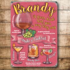 Brandy Cocktail Zeit, Getränk Rezepte Party Cocktail Kühlschrankmagnet