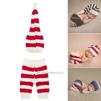 Newborn Baby Girl Boy Crochet Knit Costume Photo Photography Prop Outfit Hat Set
