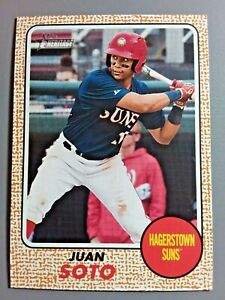 Juan Soto 2017 Topps Heritage Minors Rookie #52 Washington Nationals 🔥