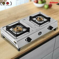Sunflame Shakti 2 Burner Gas Stove 2B Manual Ignitionn Silver Best Cooking Gift