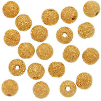 Gold Plated Stardust Sparkle Round Beads 4mm (100pcs) HY