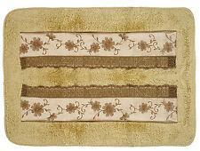 Popular Bath Veronica Bath Collection - 21 x 32 Banded Bathroom Rug