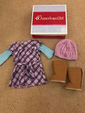 American Girl Doll 'Pretty in Plaid' Dress Hat Boots