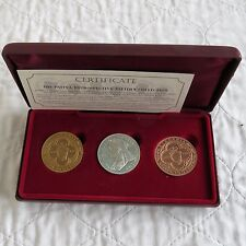 IRELAND 1901 Q VICTORIA SILVER COPPER BRONZE 3 x PROOF PATTERN DOUBLE FLORIN SET