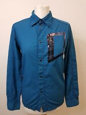 Women's Turquoise Long Sleeve Shirt by Diesel. Size Large. UK 12