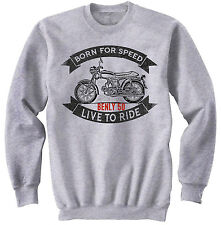 HONDA BENLY 50 - NEW COTTON GREY SWEATSHIRT ALL SIZES IN STOCK