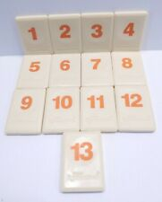 "Original Rummikub 1998 Replacement Tiles ORANGE Numbers 1-13 Pressman 1"" x 1.5"""
