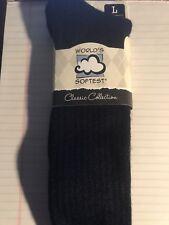 Mens Worlds Softest Crew Sock  ( Navy, Black, or White )