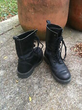 Emerson Fry *Vintage* Black Leather Combat Boots - Size 7 - EF Outlet