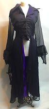 Gothic Victorian Romantic Long Jacket Purple/ Black  XL