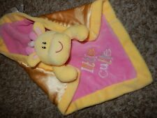 LN First Impressions Giraffe Little Cutie Velour Satin Security Lovey Blanket