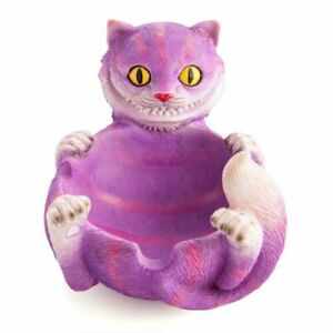 Bright Purple Mad Cat Ashtray With Curve Notches On The Edge To Rest Your Cigars