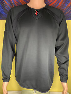Men's Majestic ThermaBase MiLB Indianapolis Indians Pullover Size Medium Black
